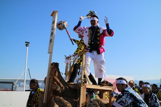 沙田神社と御柱