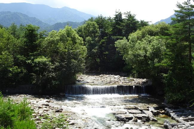 中房川の鼠穴橋