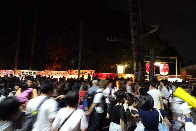 すすき川花火大会の露店