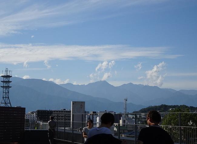 アルプステラスからの眺望