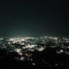 【夜景100選】松本市の城山公園から見渡す夜景