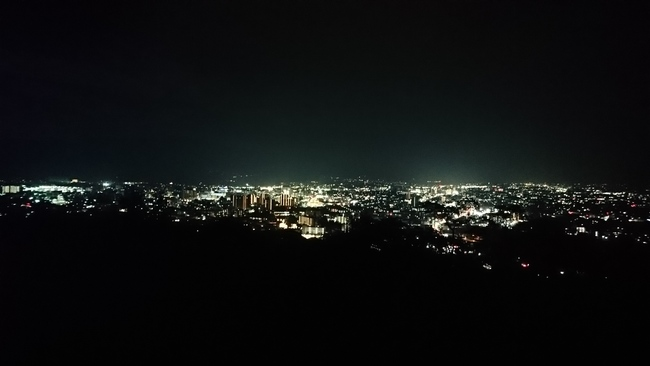 城山公園から見た松本の夜景