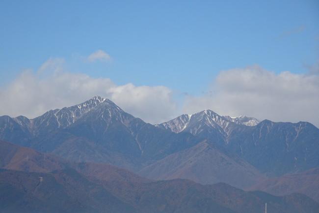 常念岳と横通し岳
