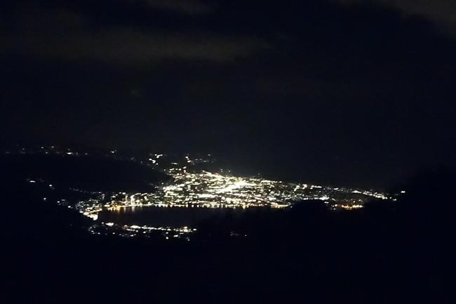 高ボッチ高原から見る夜景