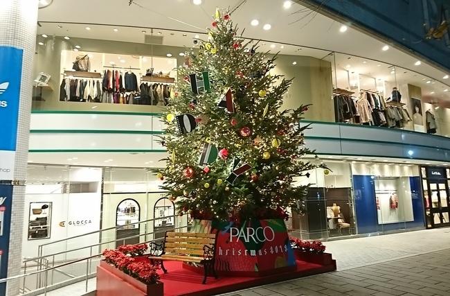 松本PARCOのクリスマスツリー