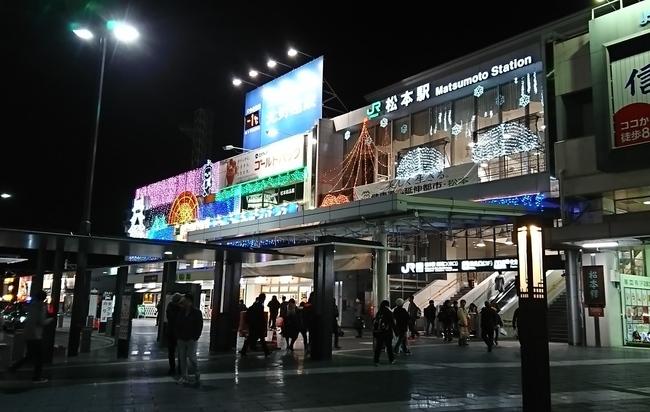 松本駅のイルミネーション