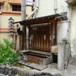 野沢温泉村の温泉街にある大湯のあくと(足湯)