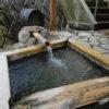 青木村沓掛温泉の足湯(ではありません!!)ご注意!