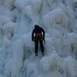 全面結氷した善五郎の滝