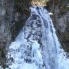 ほぼ全面結氷した番所大滝