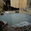 【白骨温泉公共野天風呂】河原にあるワイルドな露天風呂